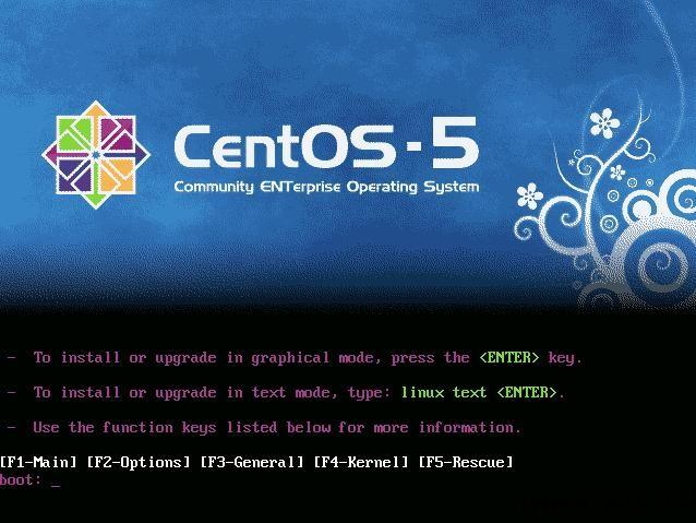 CentOS5.5服务器字符界面/text模式安装 - 2