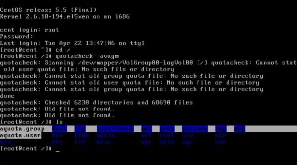 CentOS/Linux 用户磁盘配额 - 12