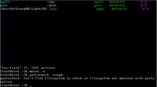 CentOS/Linux 用户磁盘配额 - 6