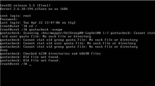 CentOS/Linux 用户磁盘配额 - 10
