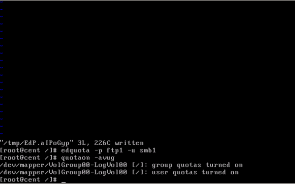 CentOS/Linux 用户磁盘配额 - 18