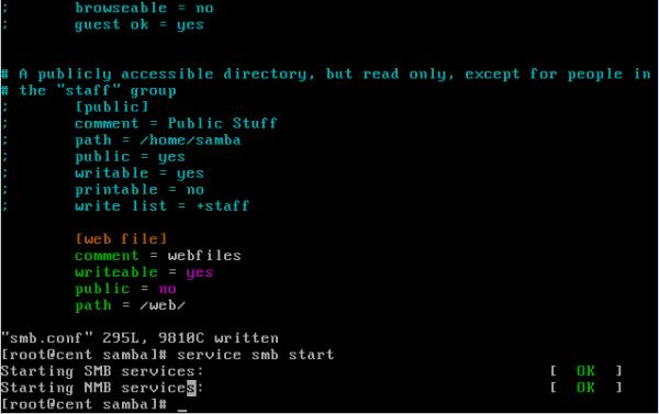 CentOS/Linux Samba共享服务简单配置教程 - 14