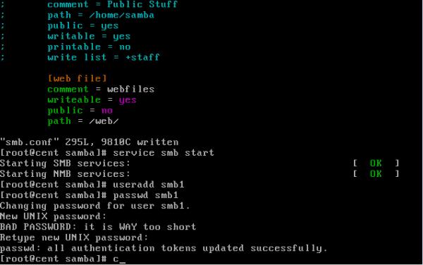 CentOS/Linux Samba共享服务简单配置教程 - 16